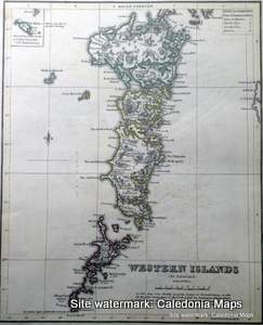County Map of Scotland - 1847 -  Uists & Barra