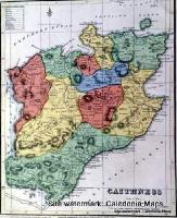 County Map of Scotland - 1847 - Caithness