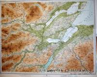 Atlas of Scotland  -  Inverness & top of Loch Ness (Inner Moray Firth area) Sheet 46 Original 1912