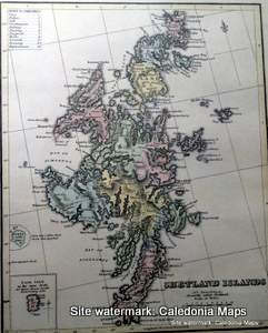 County Map of Scotland - 1847 -  Shetland