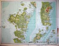 Atlas of Scotland  -  North & South Uist, Western Isles (Eilean Siar)  Sheet 43 Original 1912