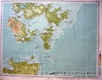 Atlas of Scotland  -   Southern Orkney with top of Caithness, Pentland Firth Sheet 57 Original 1912
