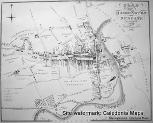 Scottish Town Plans - Haddington 1819 (John Wood map)