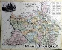 County Map of Scotland - 1847 - Roxburghshire