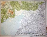 Atlas of Scotland  -  Solway in Dumfries & Galloway also showing Cumbria Sheet 18 Original 1912