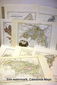 County Map of Scotland - Full set of 30 County maps of Scotland 1847