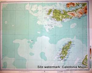Atlas of Scotland  -  Colonsay, Iona and Ross of Mull in the Inner Hebrides Sheet 32 Original 1912
