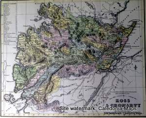 County Map of Scotland - 1847 -  Ross & Cromarty