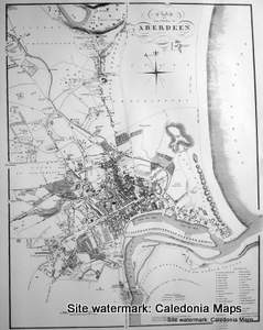 Scottish Town Plans -  Aberdeen 1818 (John Wood map)