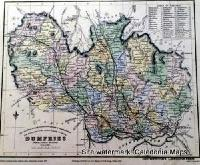 County Map of Scotland - 1847 - Dumfriesshire