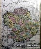 County Map of Scotland - 1847 - Angus (known in past as Forfar)