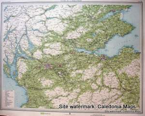 Atlas of Scotland  -  Economic Map Central Scotland Sheet 61 Original 1912