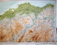 Atlas of Scotland  -  Nairn & Elgin in Moray Sheet 47 Original 1912