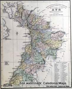 County Map of Scotland - 1847 - Ayrshire