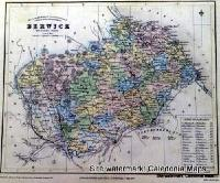County Map of Scotland - 1847 - Berwickshire