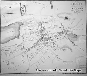 Scottish Town Plans -  Forfar 1822 (John Wood map)